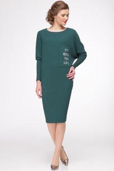 Платье Faufilure 328С-1 оттенки зеленого