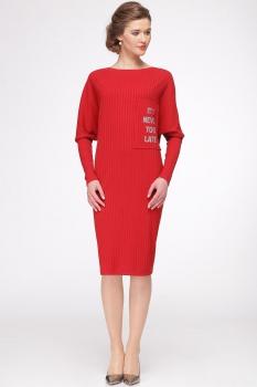 Платье Faufilure 328С-2 оттенки красного