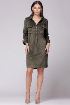 Платье Faufilure 343-3 оливковый
