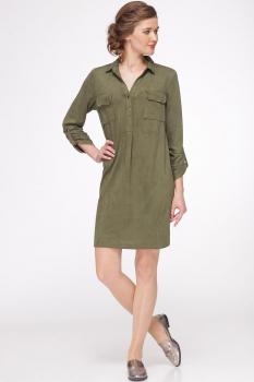 Платье Faufilure 343С-1 оливковый
