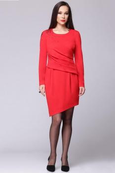 Платье Faufilure 359-1 оттенки красного