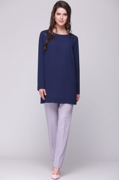 Блузка Faufilure 363С темно-синие тона