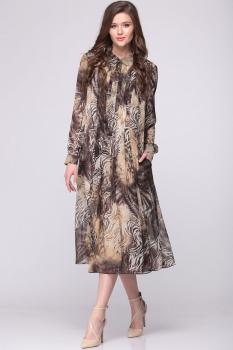 Платье Faufilure 374С-3 бежевые тона