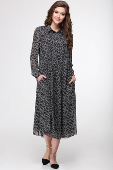 Платье Faufilure 374С-5 черно-белые тона