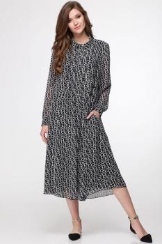 Платье Faufilure 374С-6 черно-белые тона/2