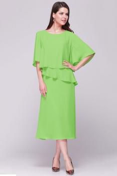 Платье Faufilure 376С-1 салатовые тона