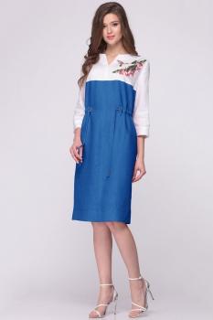 Платье Faufilure 386С-2 василек
