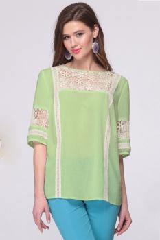 Блузка Faufilure 392С-2 оттенки зеленого