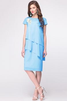 Платье Faufilure 405С голубые тона