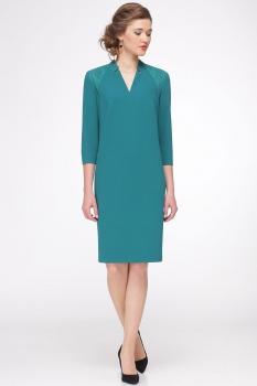 Платье Faufilure 416С бирюзовые тона