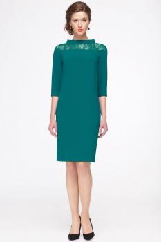 Платье Faufilure 417С-2 оттенки зеленого