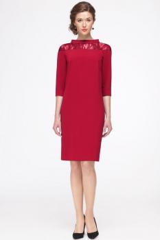Платье Faufilure 417С-3 оттенки красного