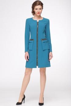 Платье Faufilure 418С-1 бирюзовые тона