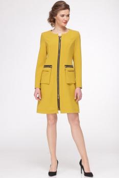 Платье Faufilure 418С-2 горчица