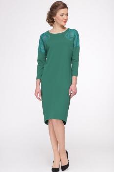 Платье Faufilure 420С зелено-бирюзовый