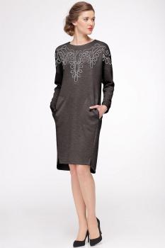 Платье Faufilure 421С коричневые тона