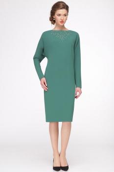 Платье Faufilure 422С-1 оттенки зеленого