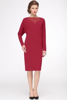 Платье Faufilure 422С оттенки красного