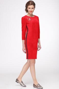 Платье Faufilure 425С-1 оттенки красного