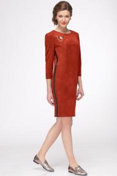 Платье Faufilure 425С-2 терракотовый