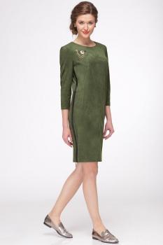 Платье Faufilure 425С оливковый