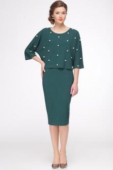 Платье Faufilure 435С-2 оттенки зеленого