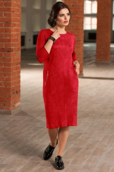 Платье Faufilure 437С-1 оттенки красного
