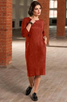 Платье Faufilure 437С терракотовый