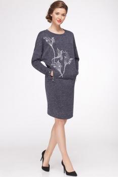 Платье Faufilure 441С серые тона