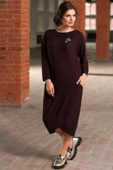 Платье Faufilure 442С-1 меланж бордо