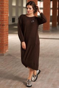 Платье Faufilure 442С меланж коричневый