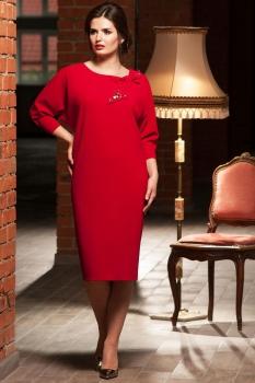 Платье Faufilure 445С-1 оттенки красного