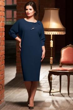 Платье Faufilure 445С синие тона
