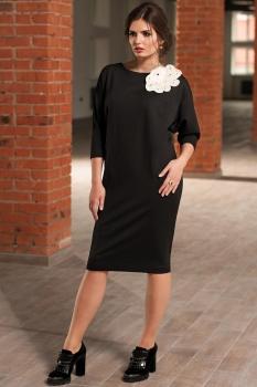 Платье Faufilure 450С черный+белый