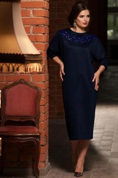 Платье Faufilure 451С оттенки синего