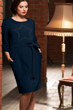 Платье Faufilure 470С-1 синие тона