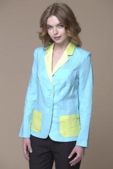 Пиджак Faufilure 531С бледно-голубой+салатовый