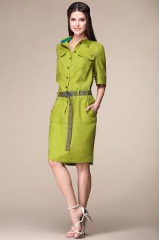 Платье Faufilure 732В-3 олива