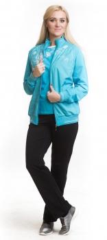 Спортивный костюм For Rest 11038-2 голубой/черный