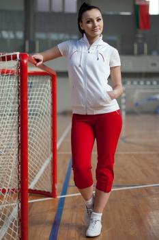 Спортивный костюм For Rest 5351 белый/малина