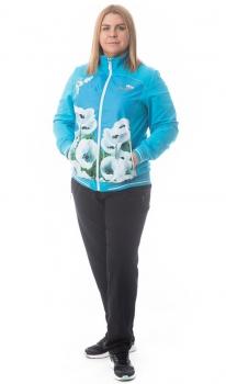 Спортивный костюм For Rest 5856-2 голубой/черный