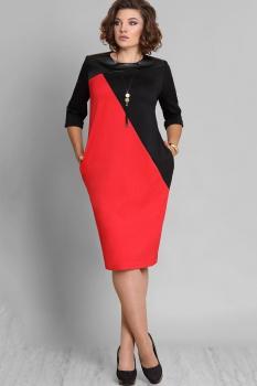 Платье Галеан стиль 577 черный с красным