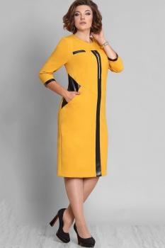 Платье Галеан стиль 578 горчица