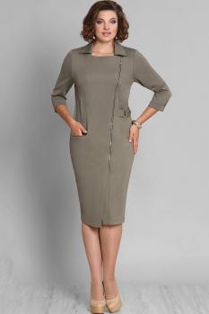 Платье Галеан стиль 580 хаки