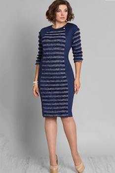 Платье Галеан стиль 581 темно-синий