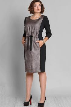 Платье Галеан стиль 587 бронза с черным