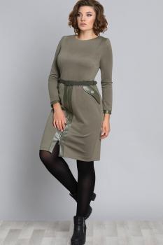 Платье Галеан стиль 597 хаки