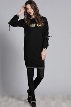 Платье Галеан стиль 602-1 черный с золотом