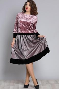 Костюм Галеан стиль 609 серый с розовым