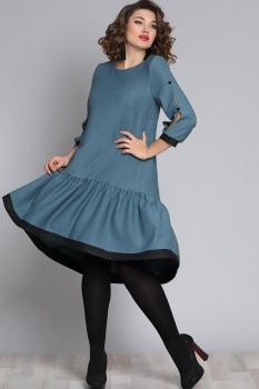 Платье Галеан стиль 610-1 бирюза